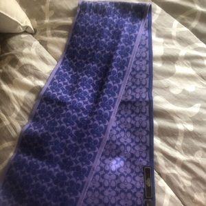 Coach Monogrammed Scarf - Purple